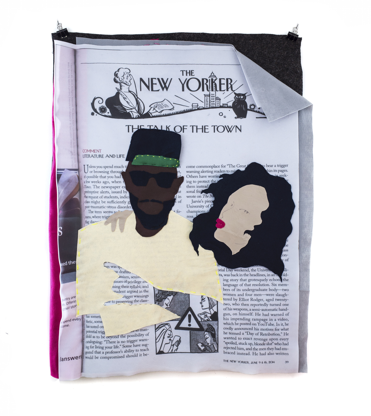 Me and Bae  2014 Digital Print on Fabric/Felt