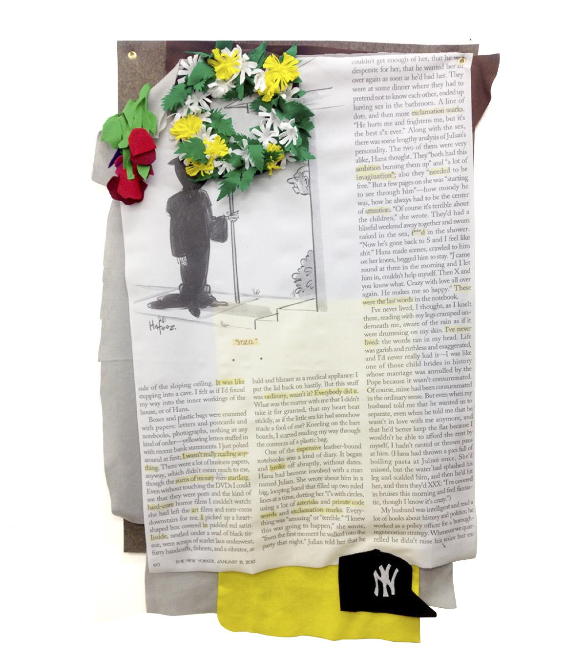 Yolo: In Memoriam   2013 Digital Print on Fabric/Felt