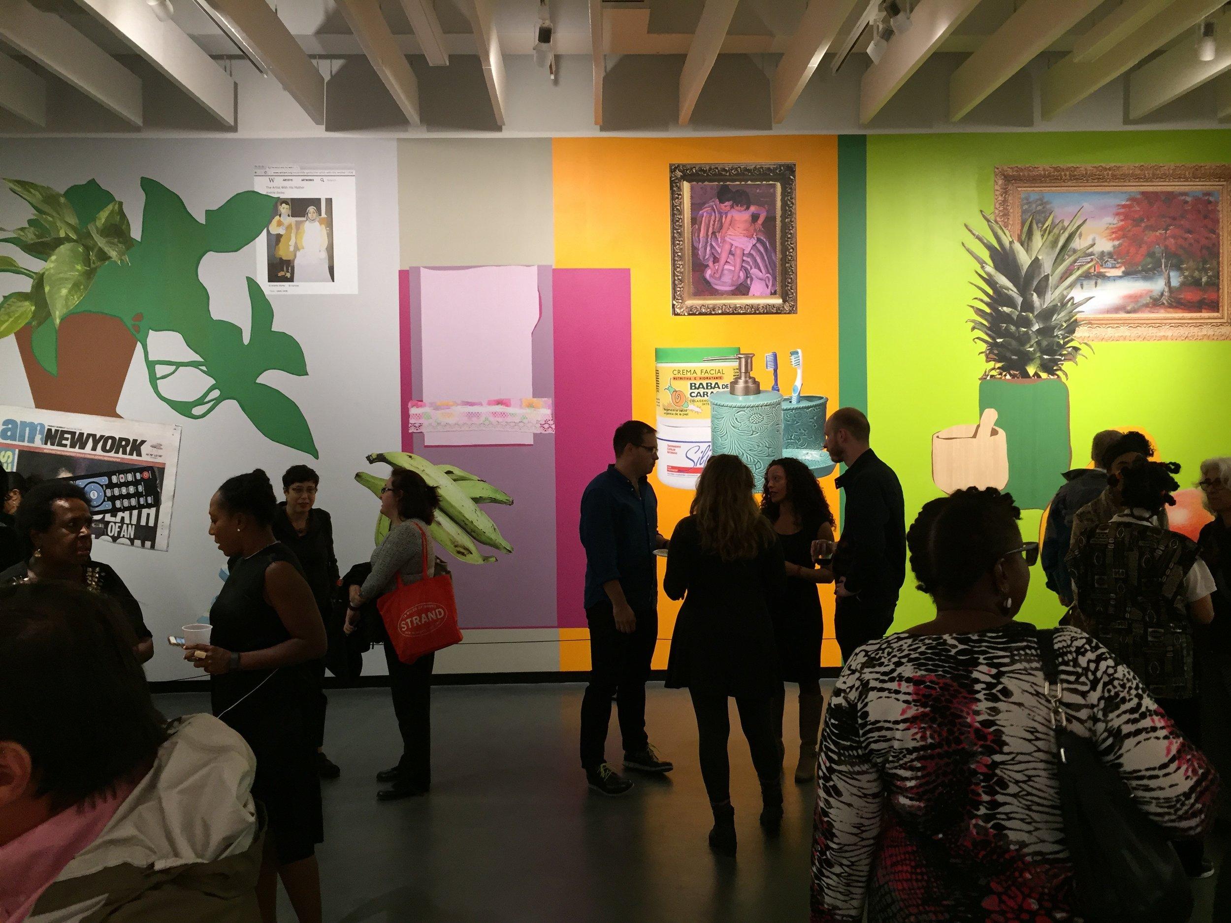 """Mi Casa Es Su Casa"",Installation at SugarHill Children's Museum of Art and StoryTelling; (Opening shot); Paint, Vinyl, Textured WallPaper, August2016-August2017."