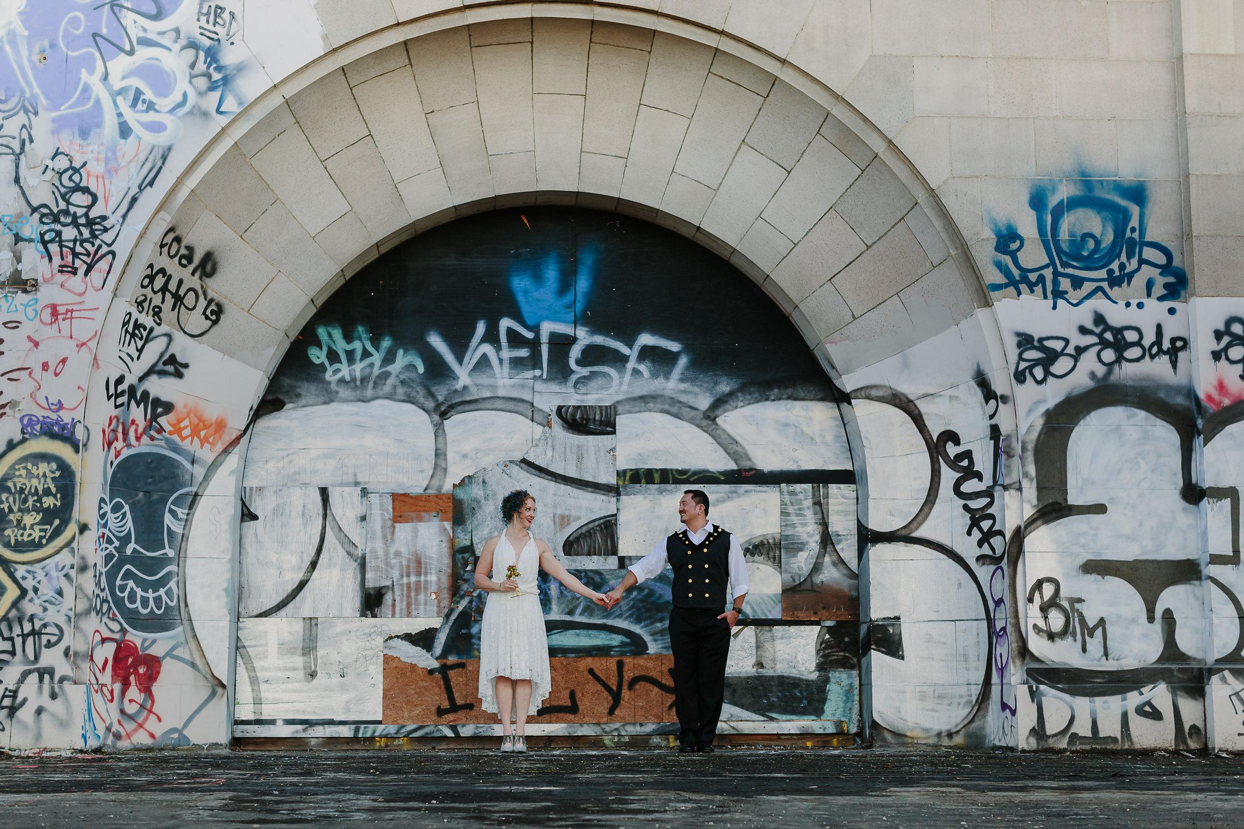 bride and groom oakland