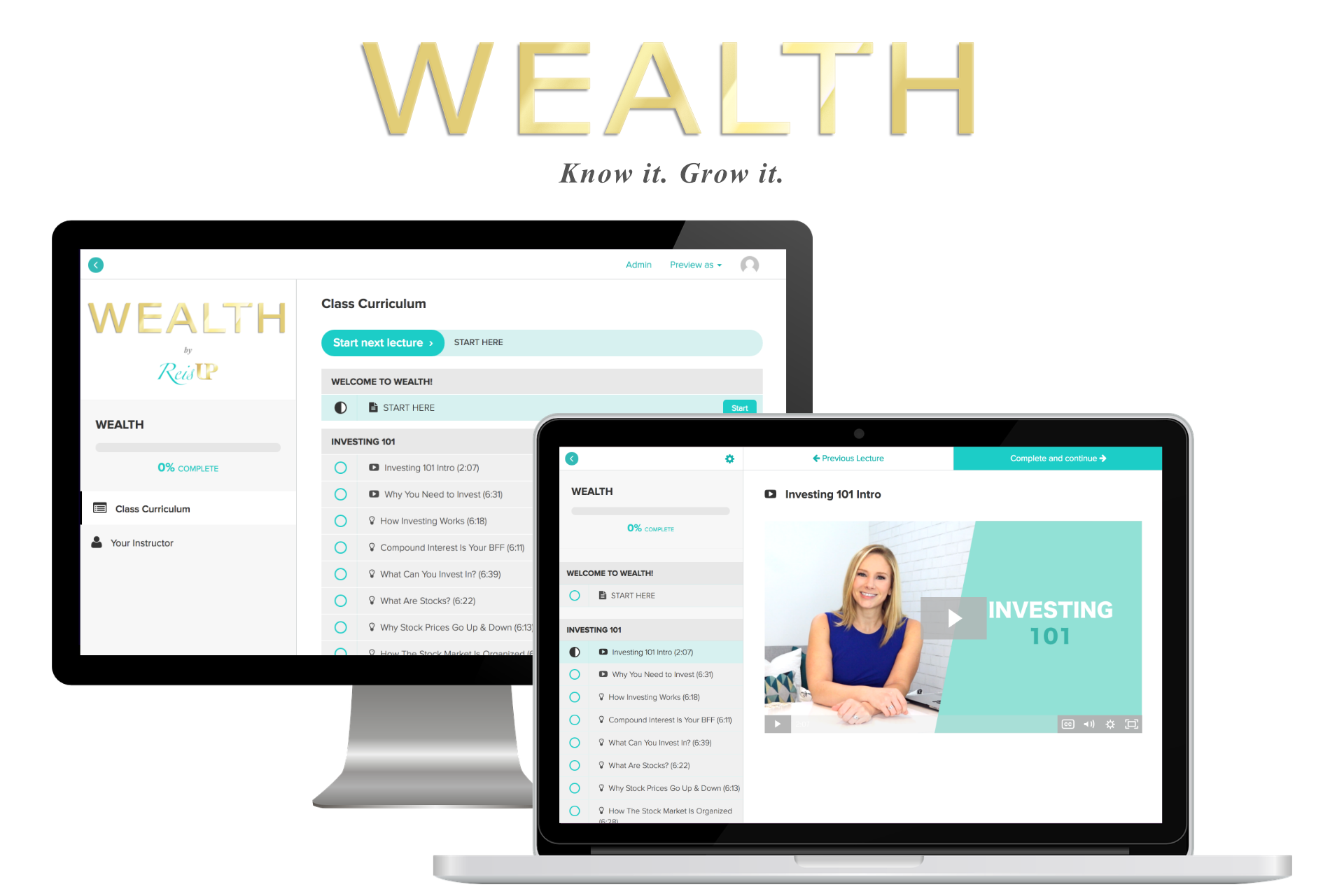 ReisUP WEALTH Online Investing Basics Course Preview