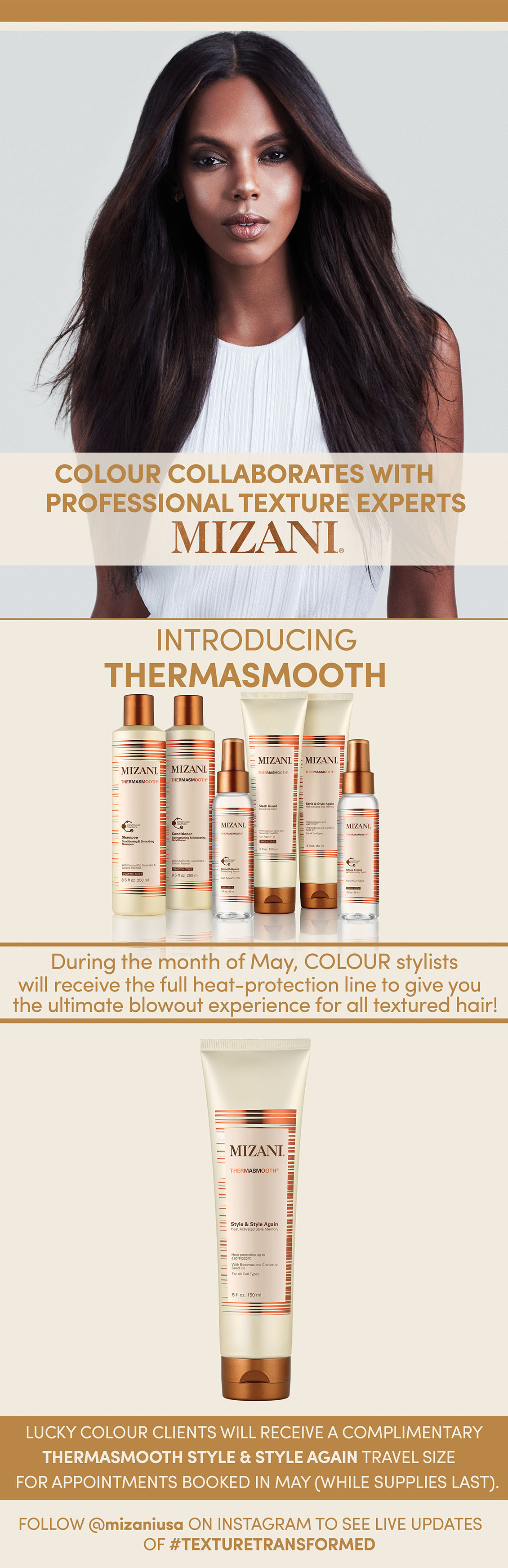Colour collaborates with Mizani for launch of Thermasmooth