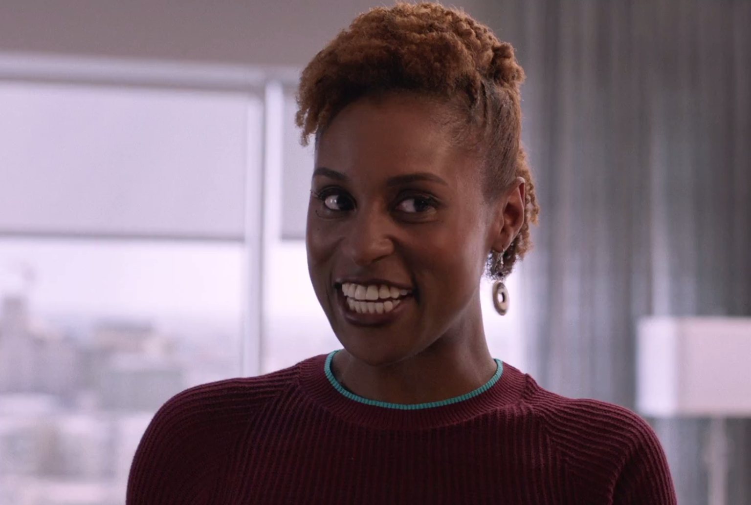 Natural hairstyle worn by Issa Rae Insecure Hella LA
