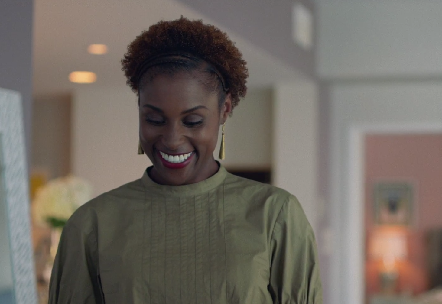 Issa Rae Halo Braid Afro Puff Worn on HBO Insecure Hella Shook
