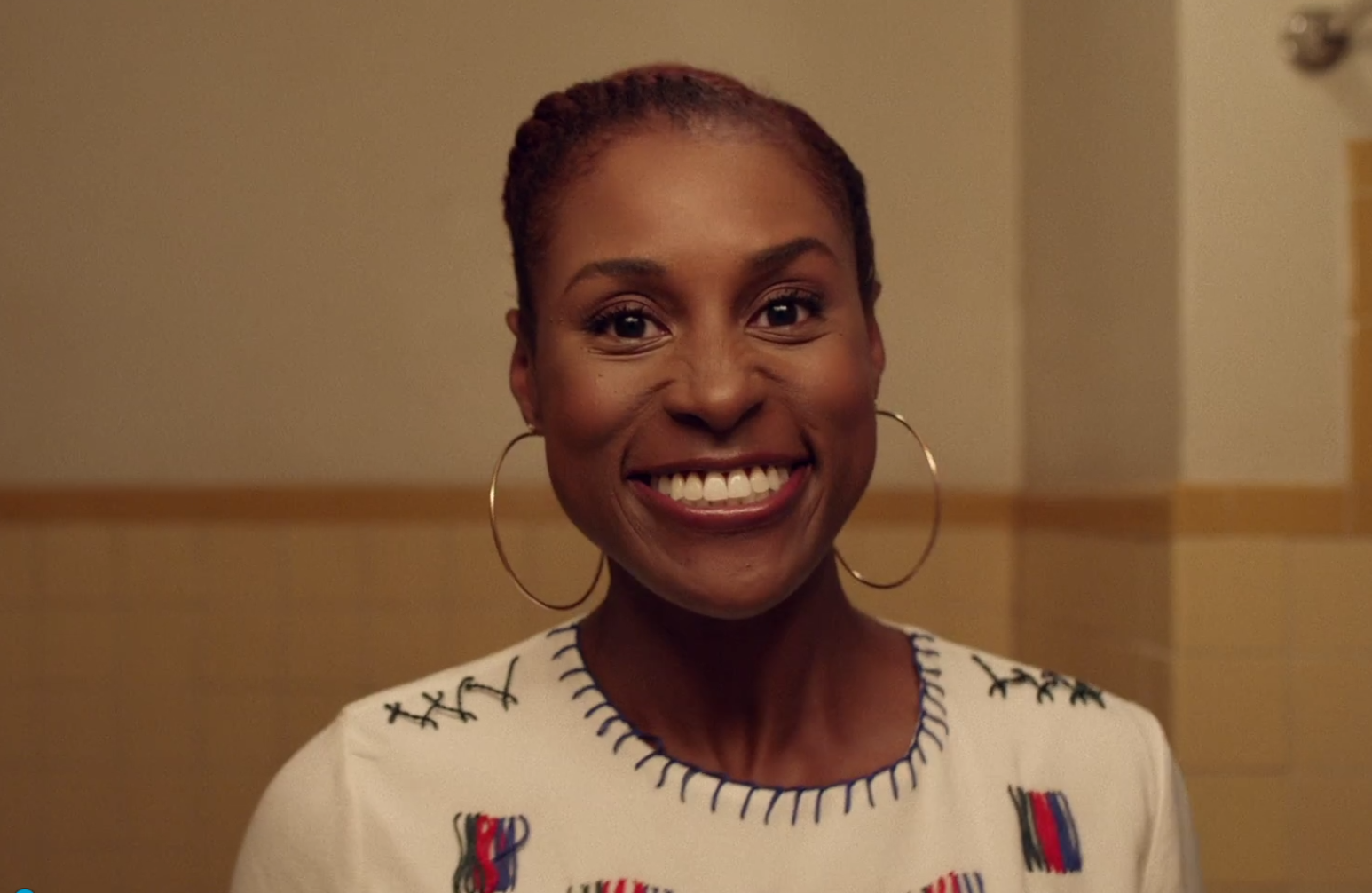 Flat twist halo Issa Rae wore in HBO Insecure Episode 6 Hella Blow
