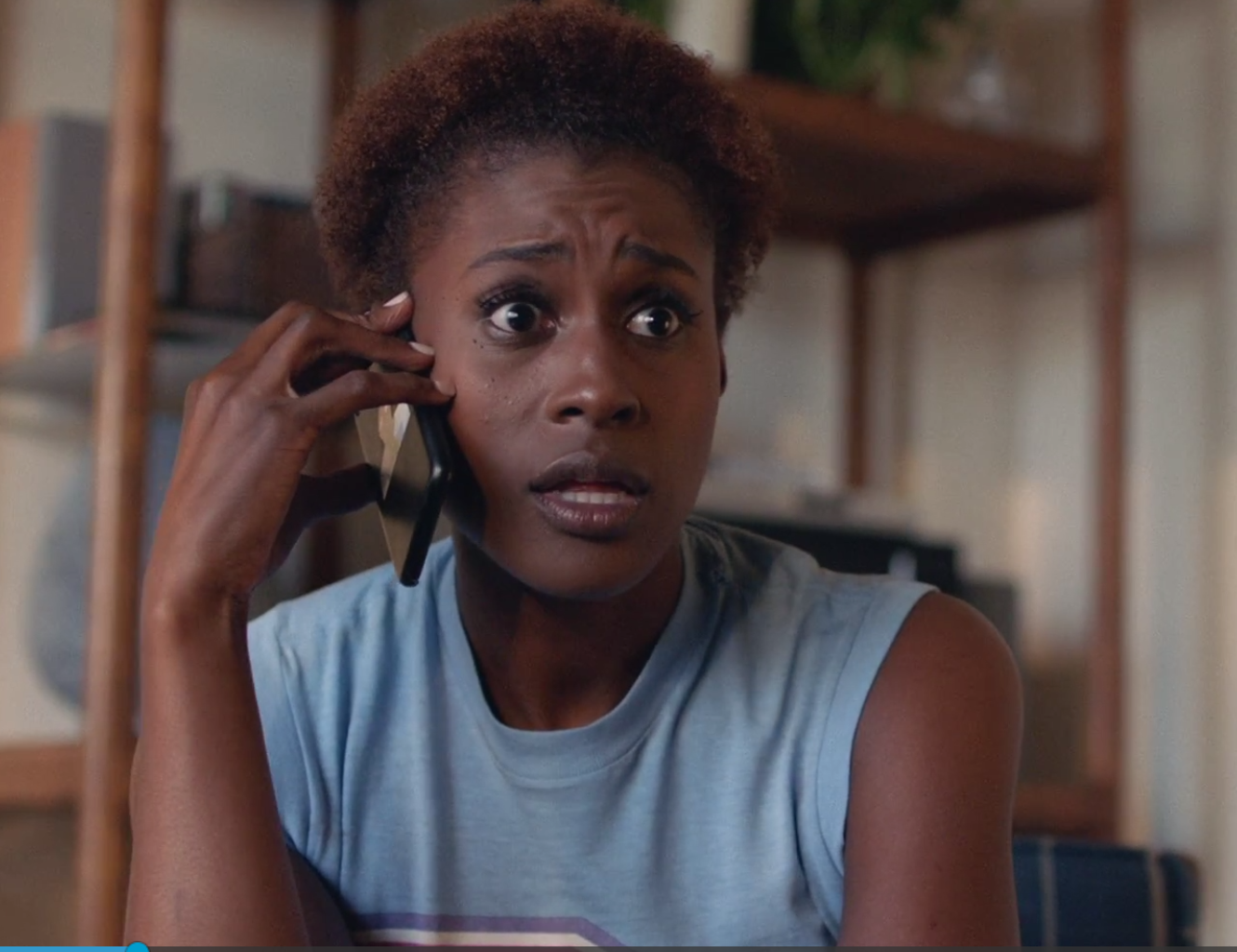 Issa Rae Natural Afro on HBO Insecure Hello Disrespectful