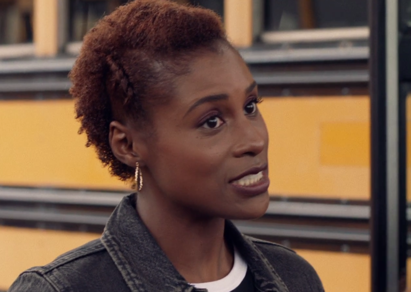 Faux Hawk with Braided details Issa Rae Wore on HBO Insecure Hella Disrespectful
