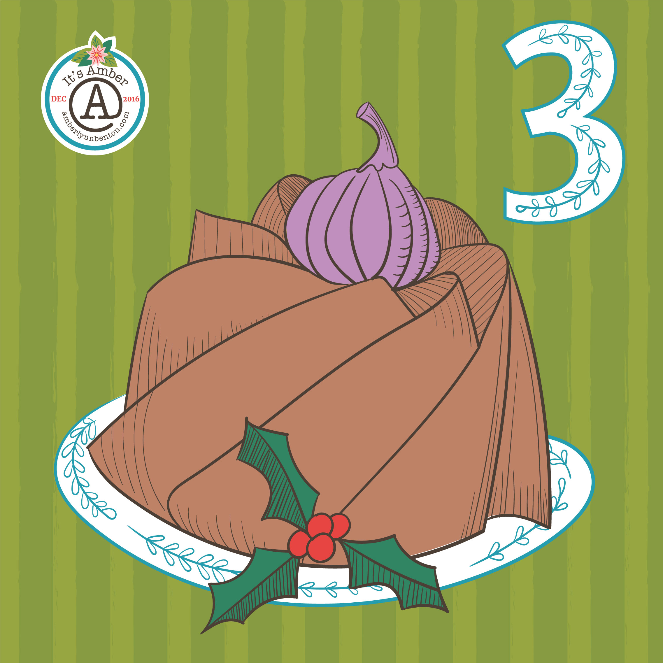 A Figgy Pudding by Amber Lynn Benton for #ItsAdvent 2016