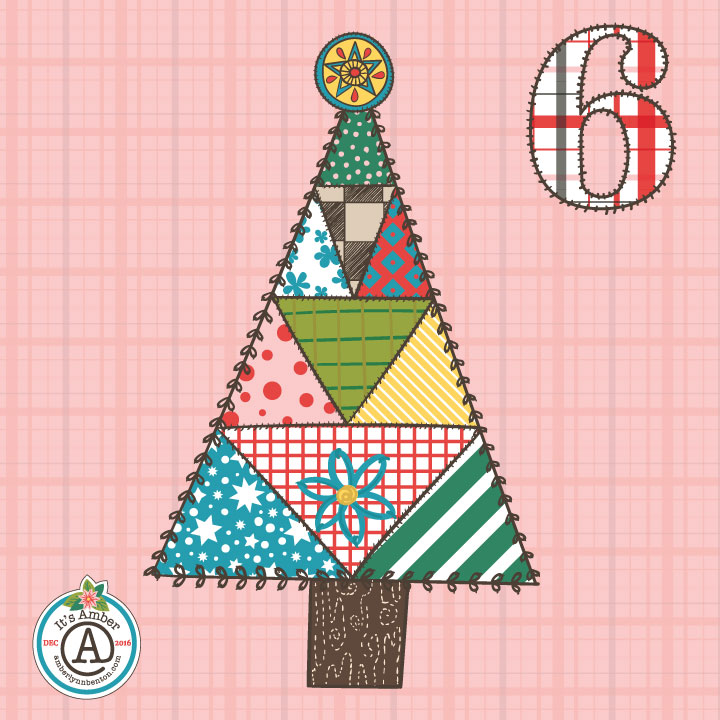 Patchwork Christmas Tree by Amber Lynn Benton for #ItsAdvent 2016