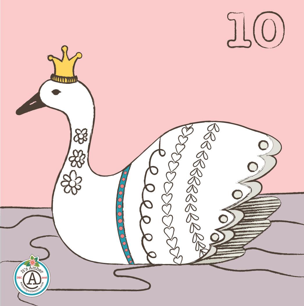 Swan Princess by Amber Lynn Benton for #ItsAdvent2016