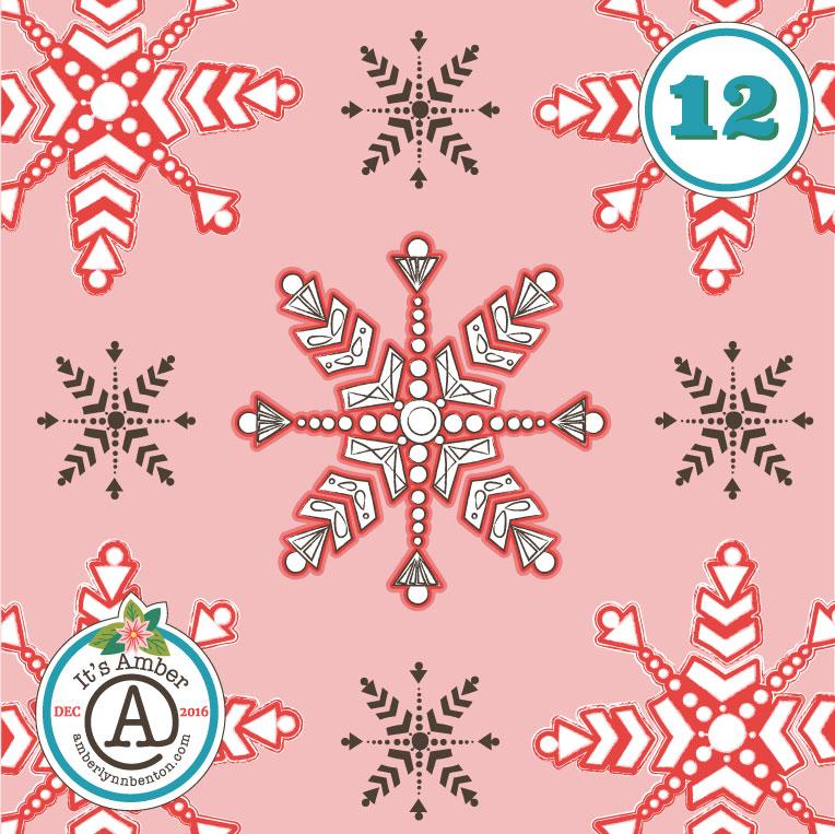 Snowflakes by Amber Lynn Benton for #ItsAdvent2016