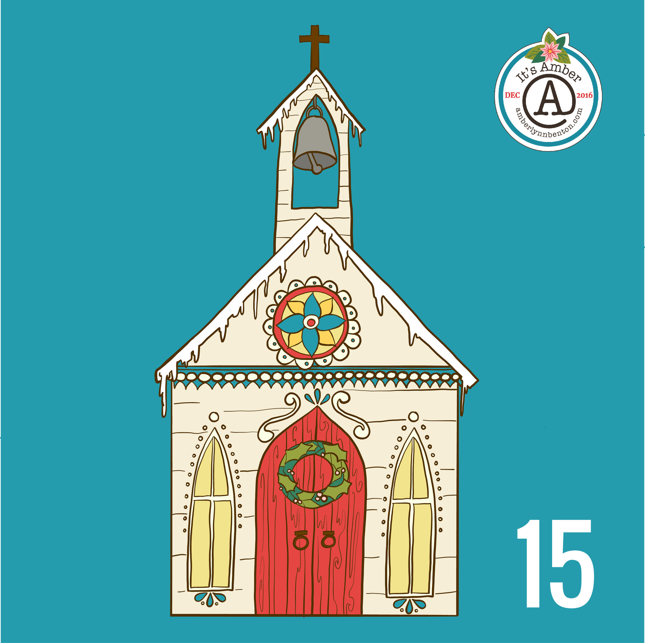 Small Country Church by Amber Lynn Benton for #ItsAdvent2016