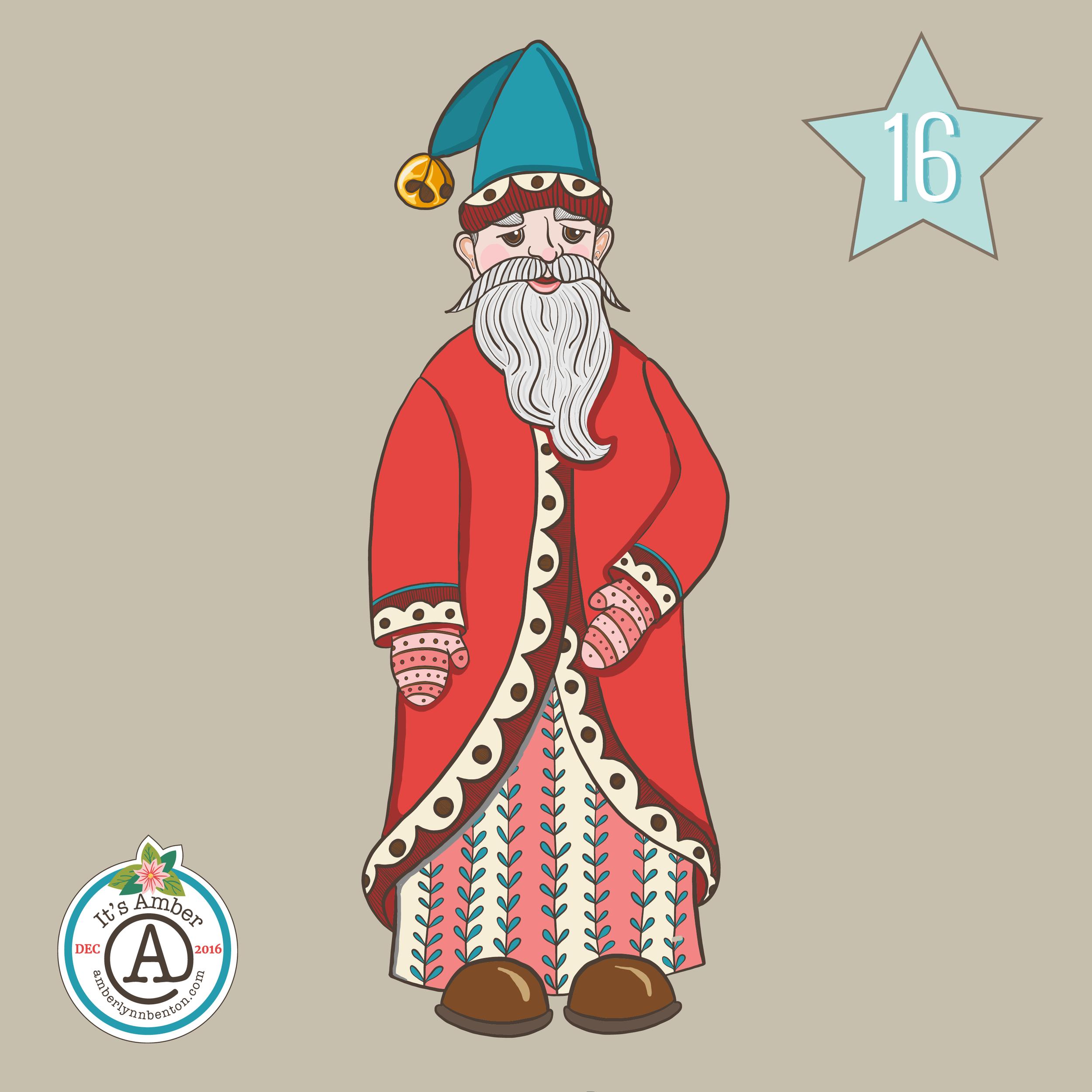 Santa Claus by Amber Lynn Benton for #ItsAdvent2016