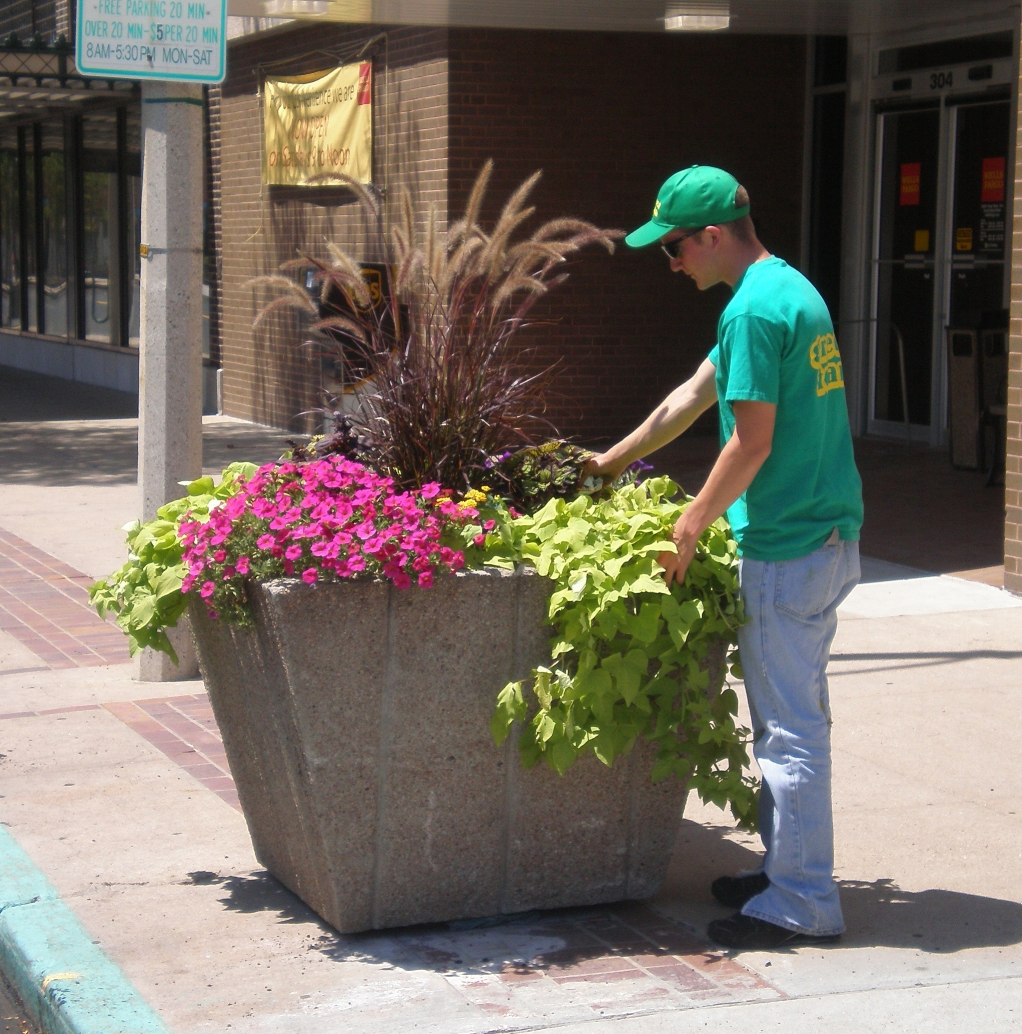 Green Team and Planter.JPG