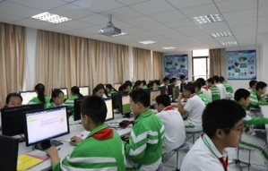 Students completing the StayingFit China program.