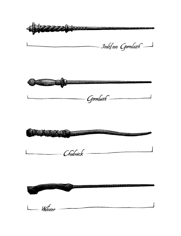The Origins of Ilvermorny, Wands