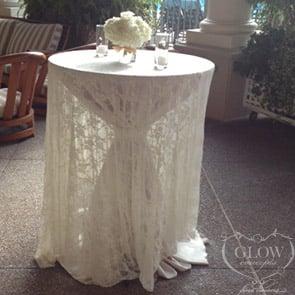 Elegant Lace Overlay on Martini Style