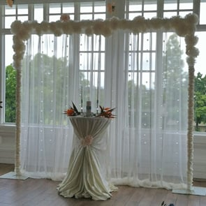 Ceremony Drape with Crystal and Rosettes