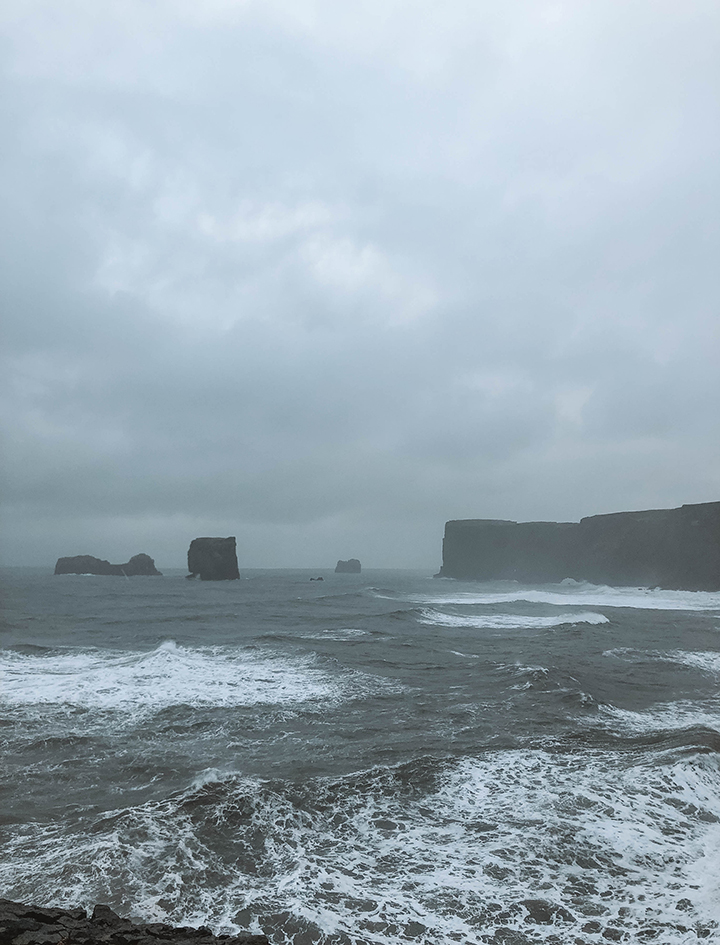 Black Sand Beach Overlook - it was stormy and windy which made for a gorgeous, moody photo.