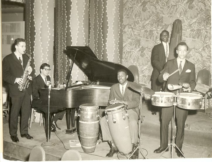Pete Yellin, Chick Corea, Bill Fitch, Milford Graves and Noel Carter. Linden Manor Ballroom, Jamaica, Queens. 1960-61
