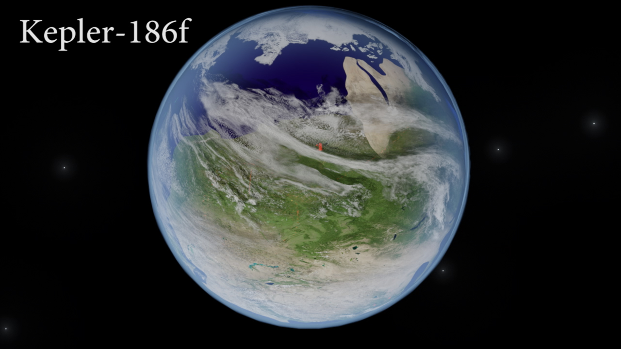 My Artist Interpretation of Kepler-186f (dayside)