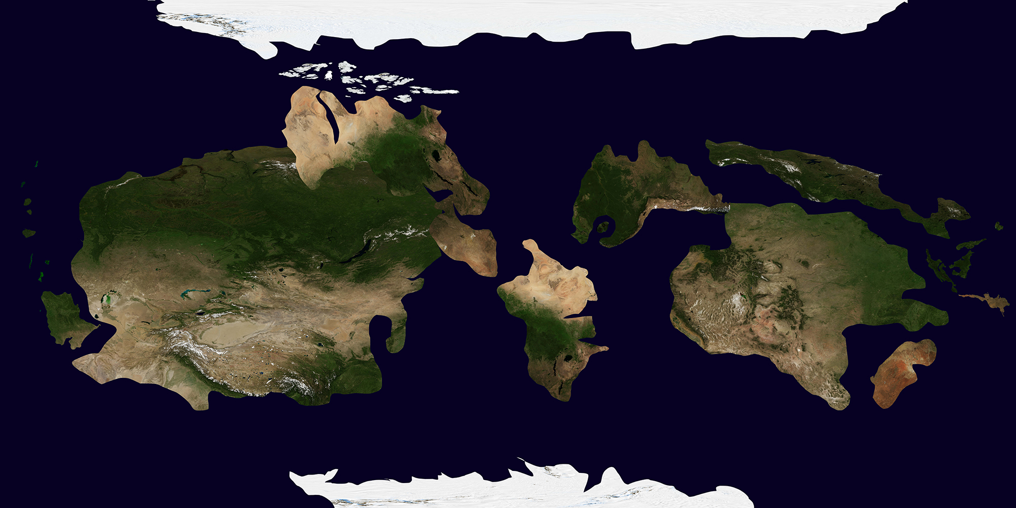 Mercator Style Map for Kepler-186f (dayside)