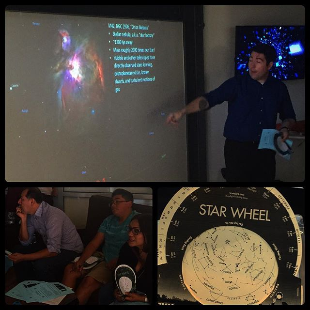 """Delivering my """"Building a Map to the Universe"""" workshop to a High Tech High (San Diego, CA) learning event for parents and students in October 2016."""