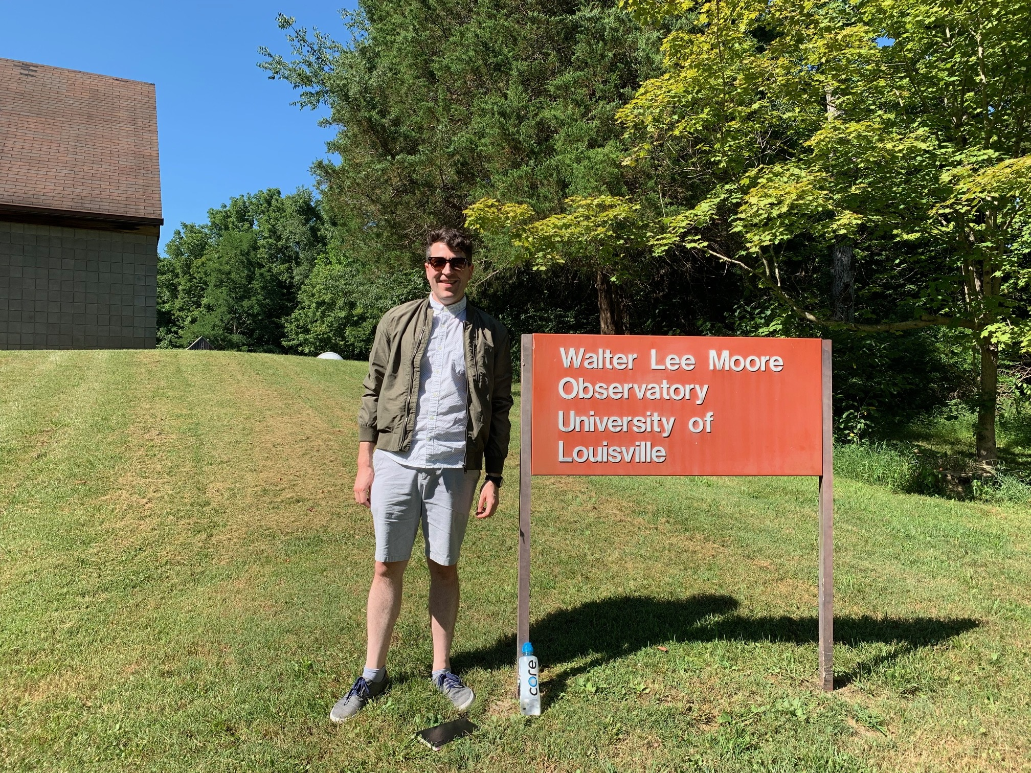 I just began my PhD in astrophysics. Here's a photo of my first experience visiting Moore Observatory in Louisville, KY. July 2019.