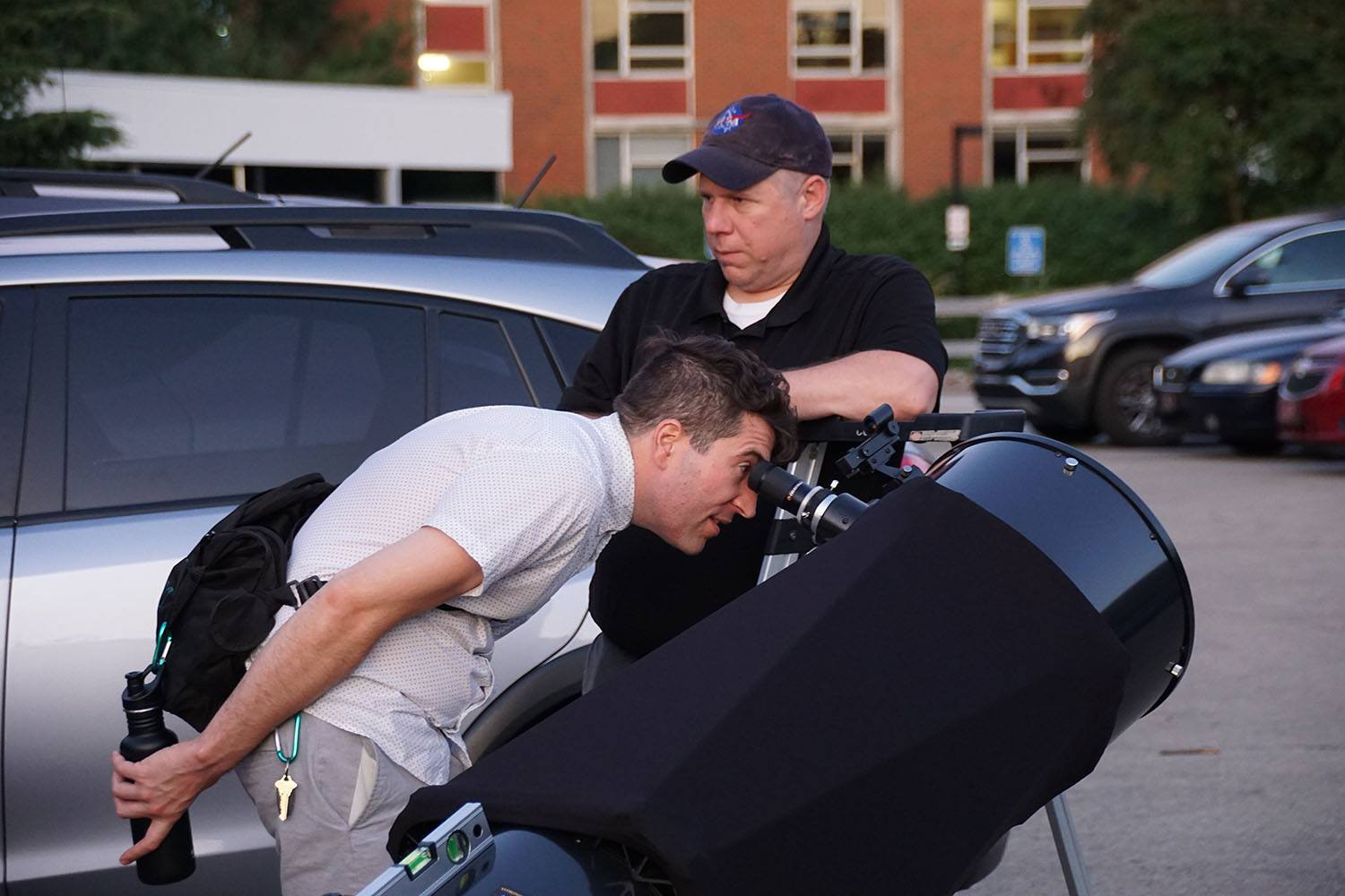 Star party at Rauch Planetarium, University of Louisville, Louisville, KY. Photo courtesy of Duke Marsh, July 2019.