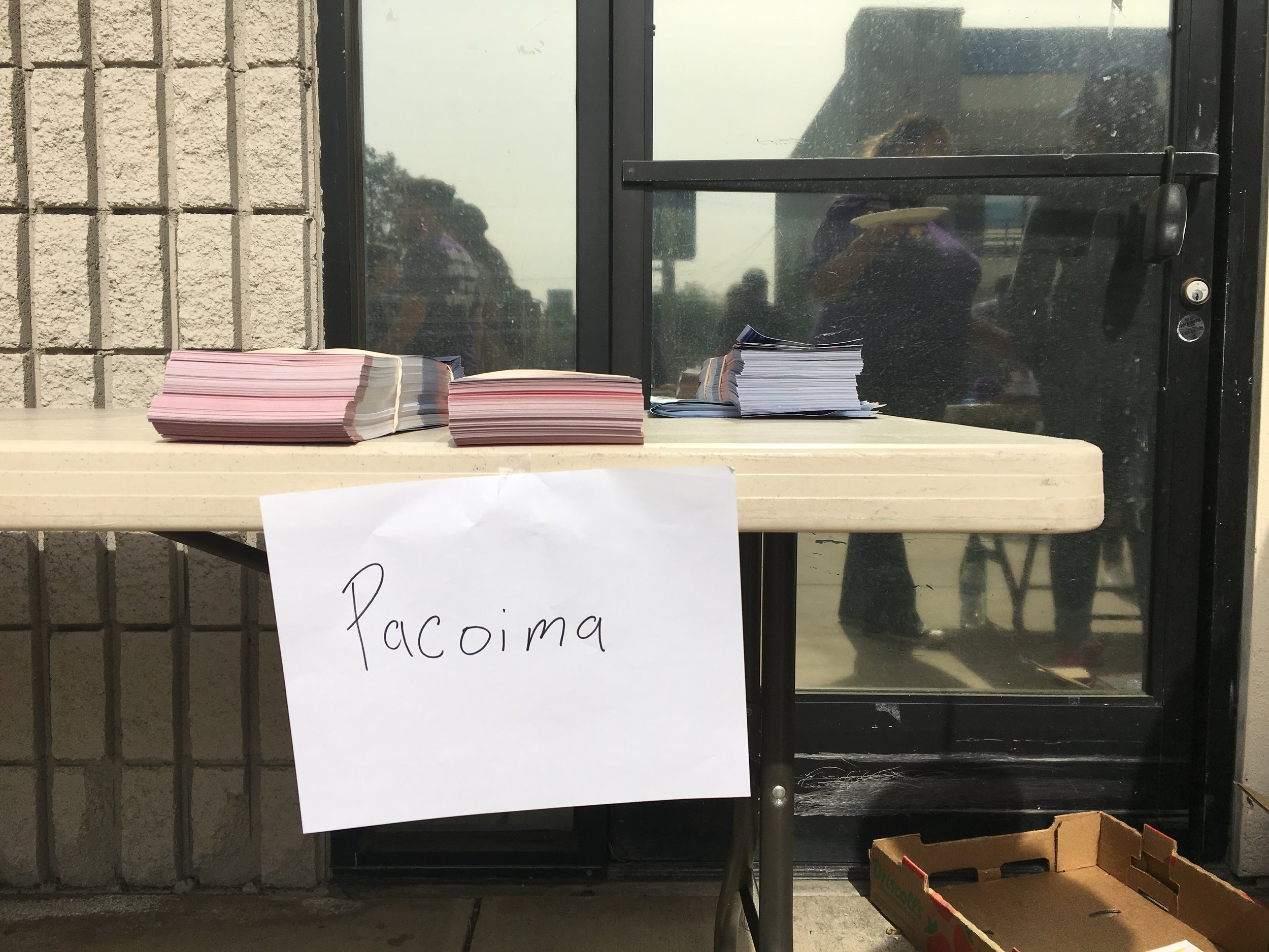 Volunteers gathered in Pacoima for their final days before the March primary.