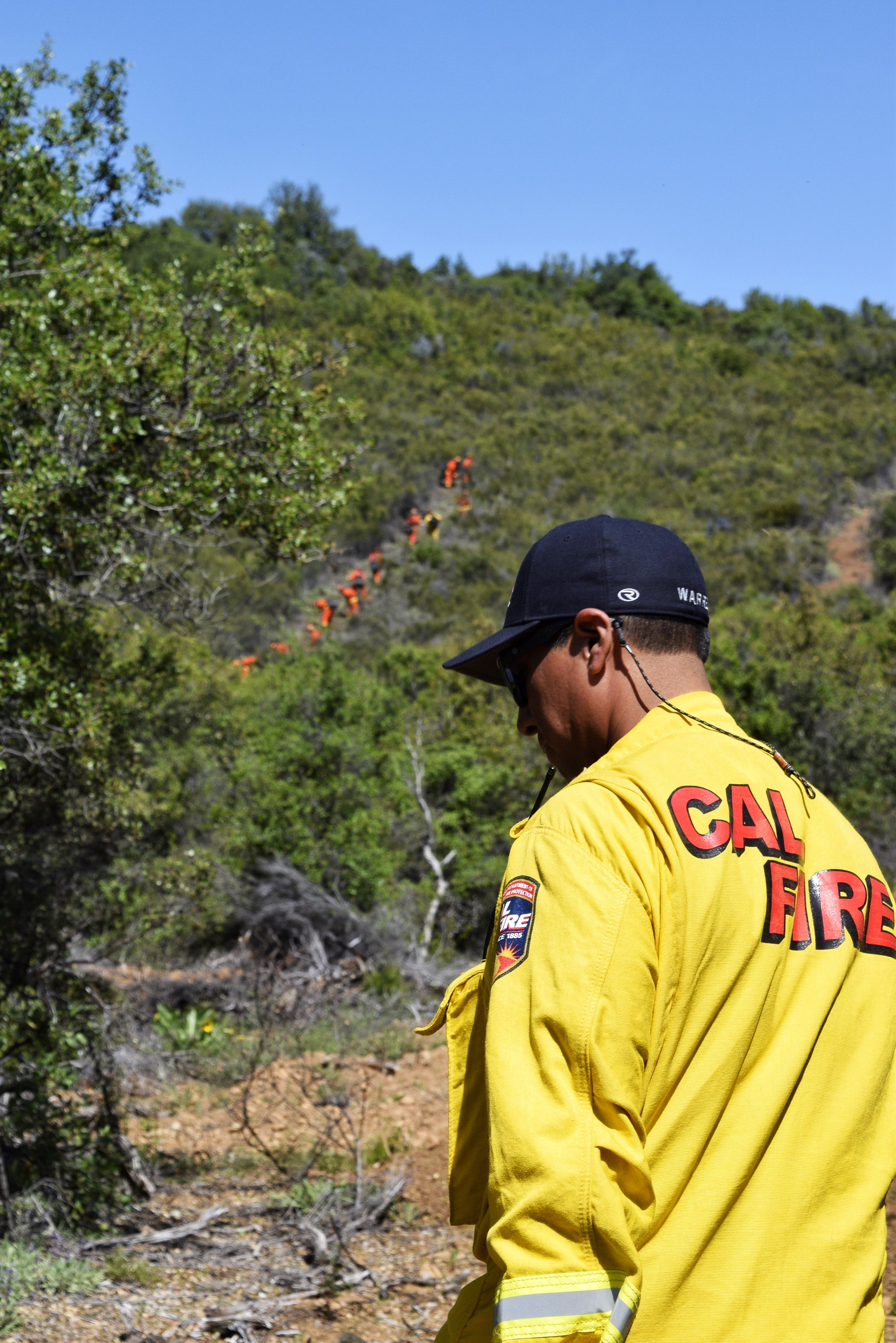 Capt Warren Parrish - made his way to the line-cutter crew that worked tirelessly to identify high-risk areas and clear the space of shrubs and stubs along the mountains.