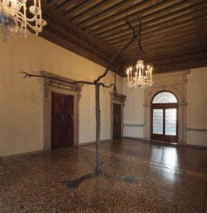 Graham Fagen, 'Rope Tree', Installation View,     Palazzo Fontana, Bronze, 2015
