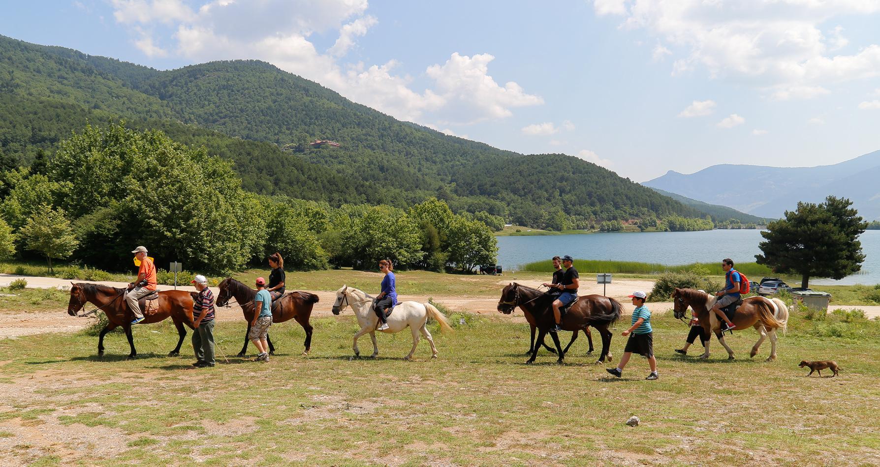 Κάναμε βόλτα με άλογα...