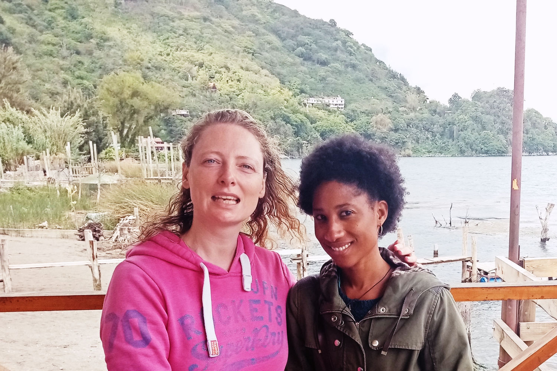 Freya and Dee, Lake Atitlan, Guatemala.