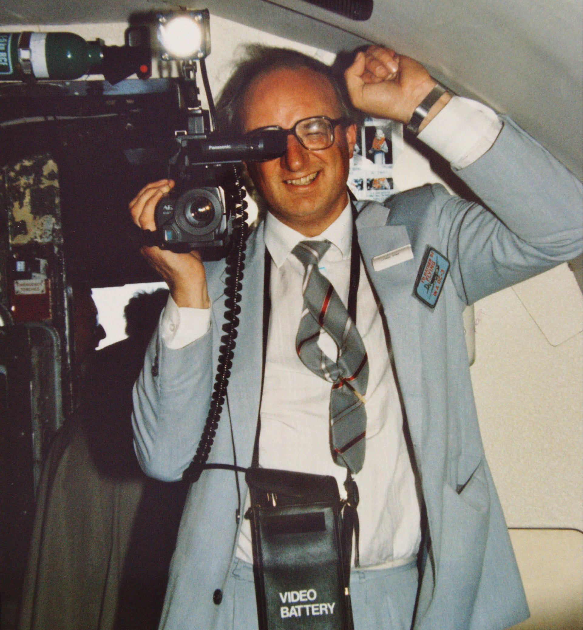 Lionel Fynn in 1985 with his lightweight holiday gear.