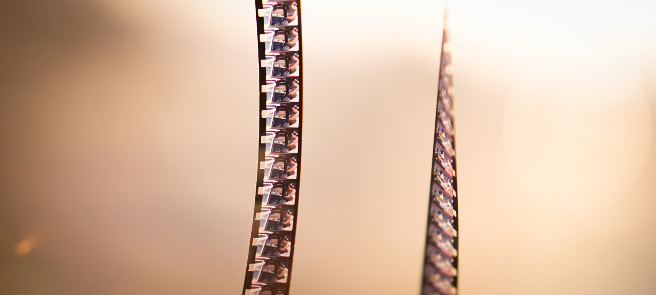 You can look at the individual frames on Super 8 cine film.