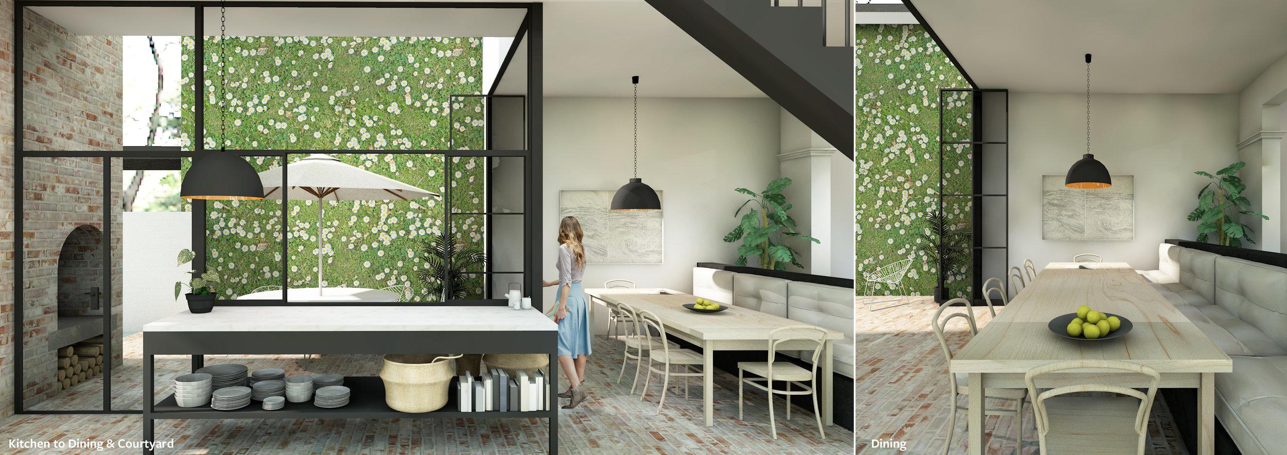 Internal Courtyard House Built in dining Olivia van Dijk Architecture.jpg