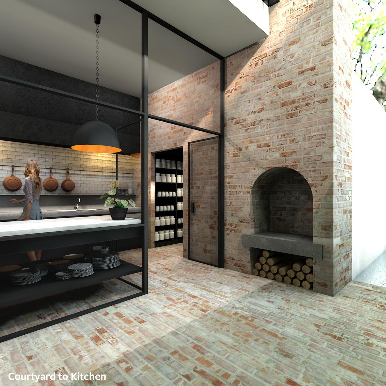 Internal Courtyard House External Fireplace Olivia van Dijk Architecture.jpg