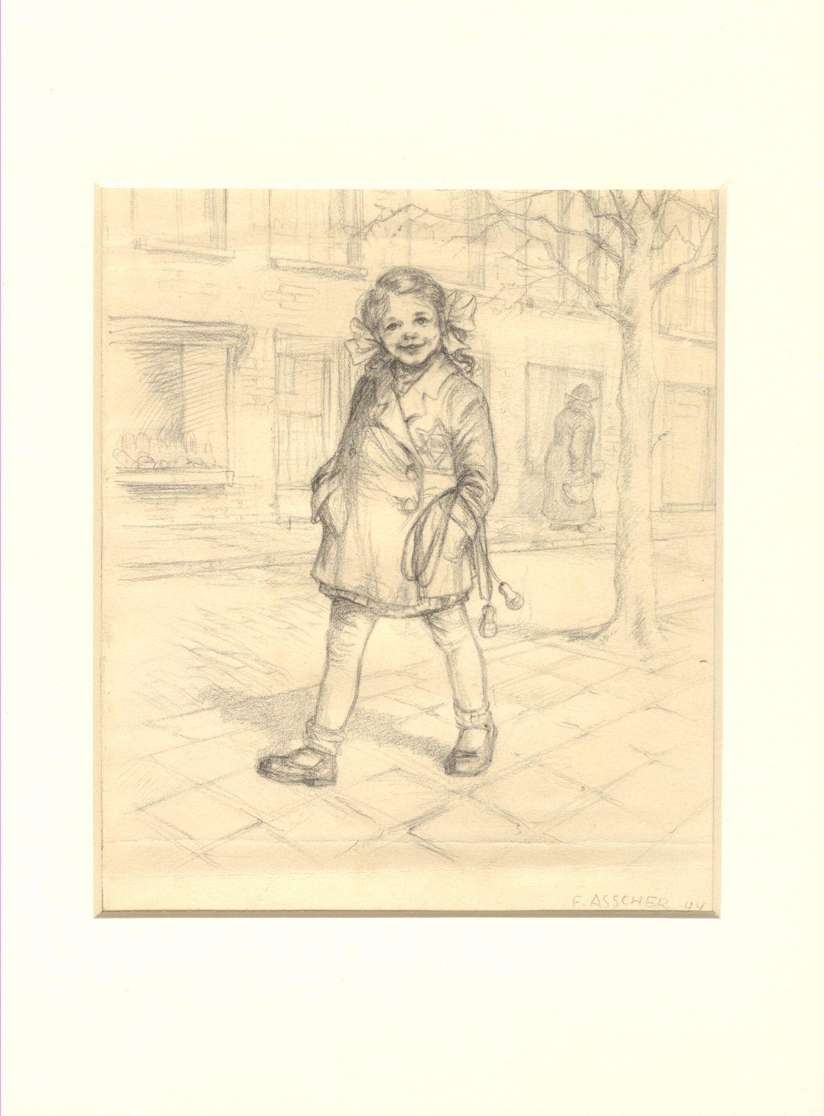 girl with yellow star ( resamble Tzofia as a child)1944.jpg