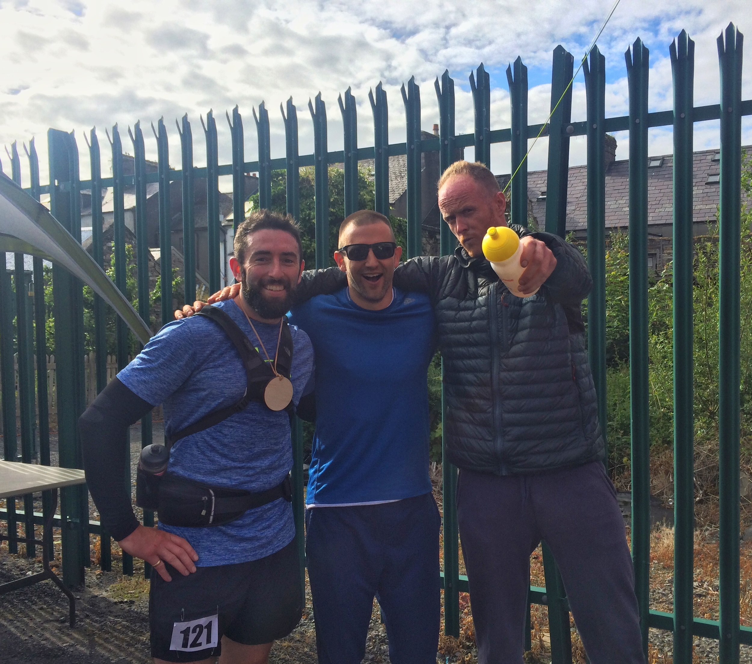 Friends and running partners Ronan 5th,myself 2nd and Brian 1st