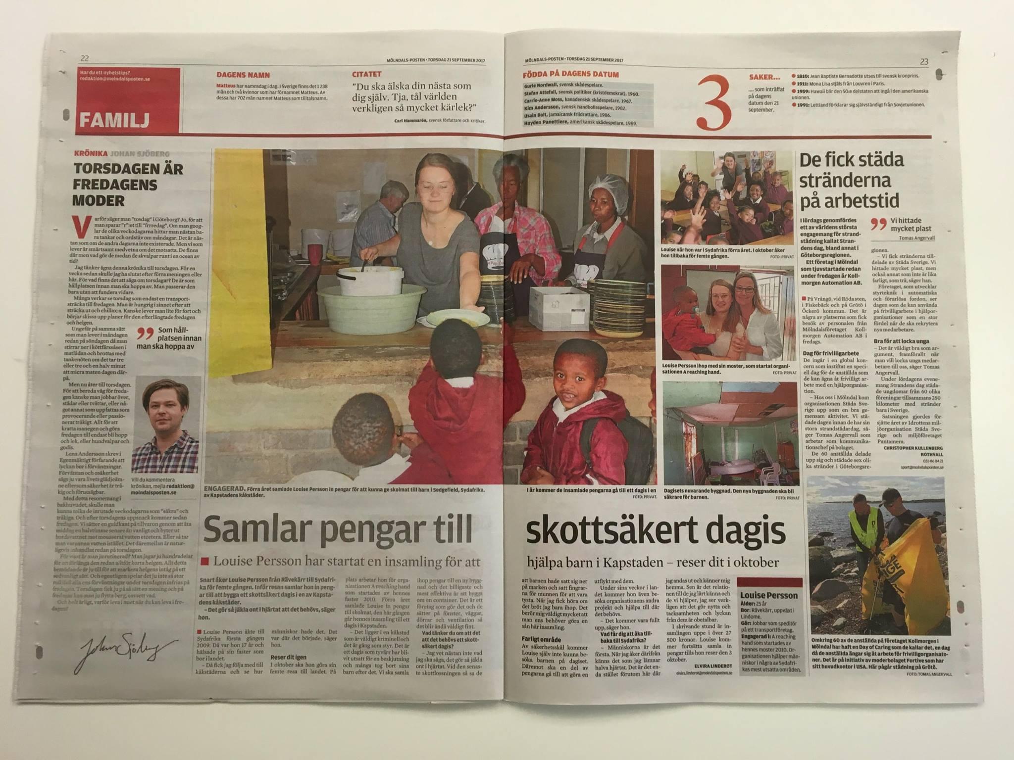 Louise in the Swedish Newspaper.jpg