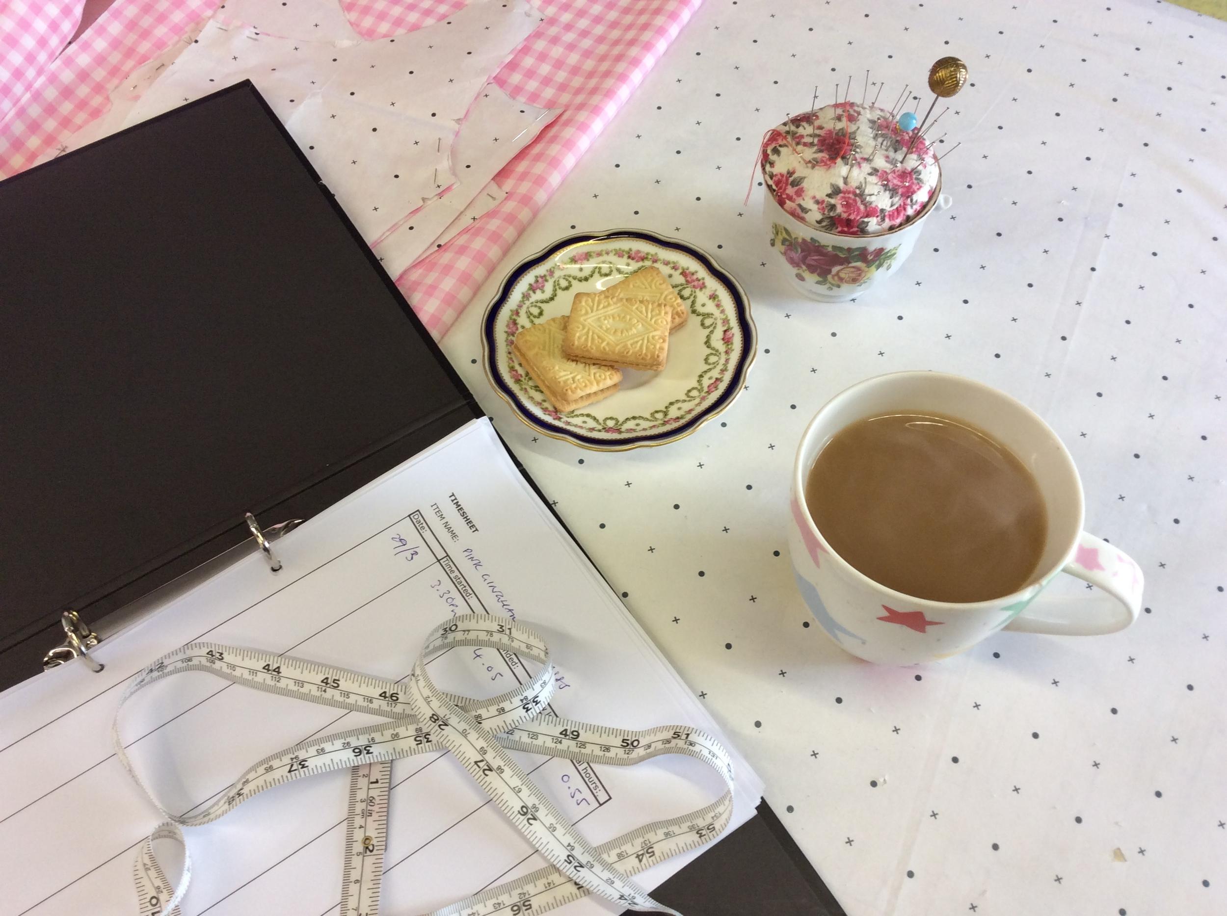 Tea break at the Studio