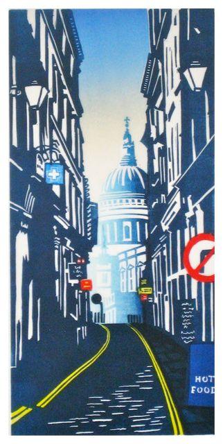 St Pauls from Watling Street by Janet Brooke