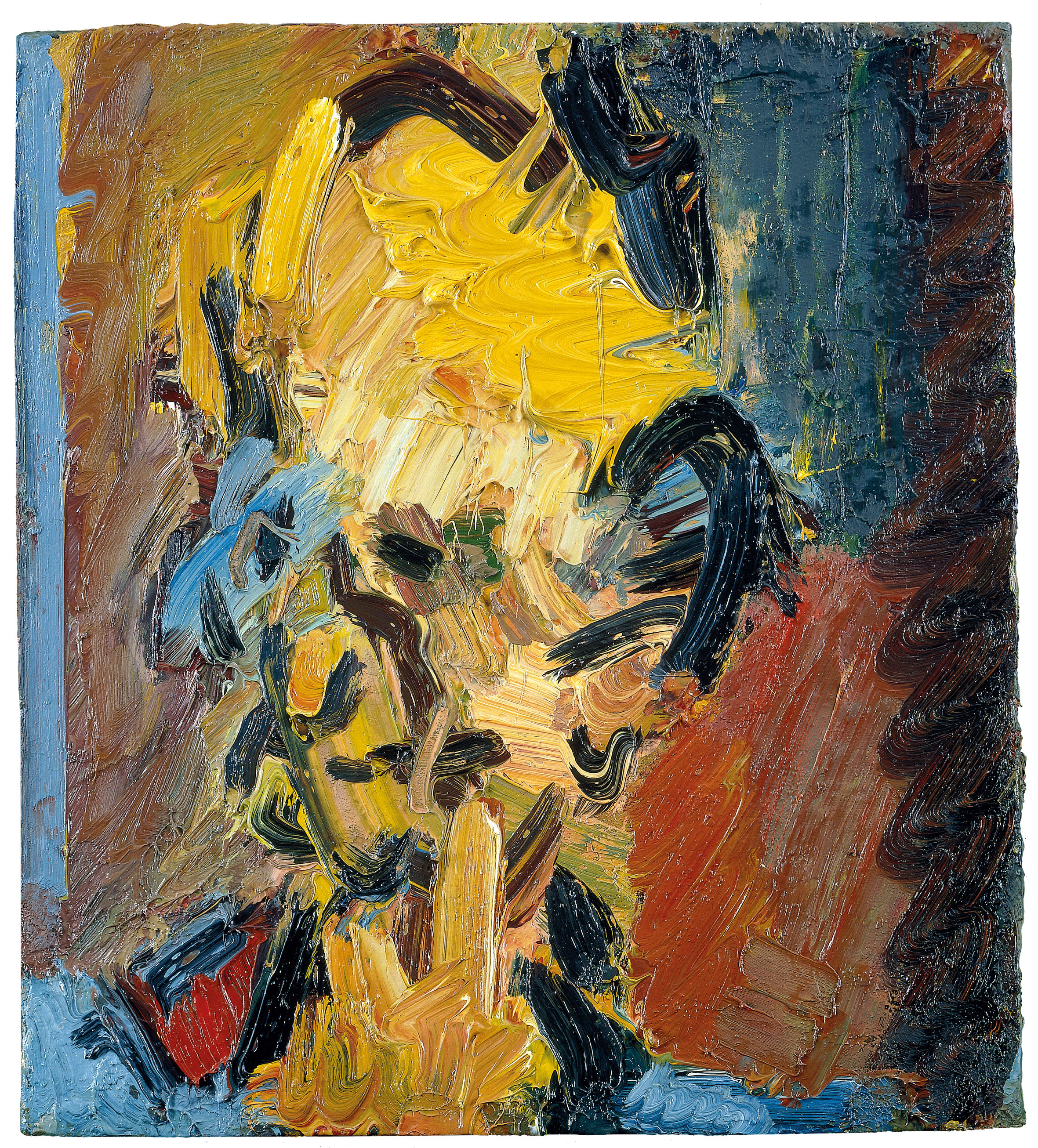 Frank Auerbach (b 1931) Head of William Feaver, 2003, Oil on board, 451 x 406 mm, Collection of Gina and Stuart Peterson, © Frank Auerbach, courtesy Marlborough Fine Art