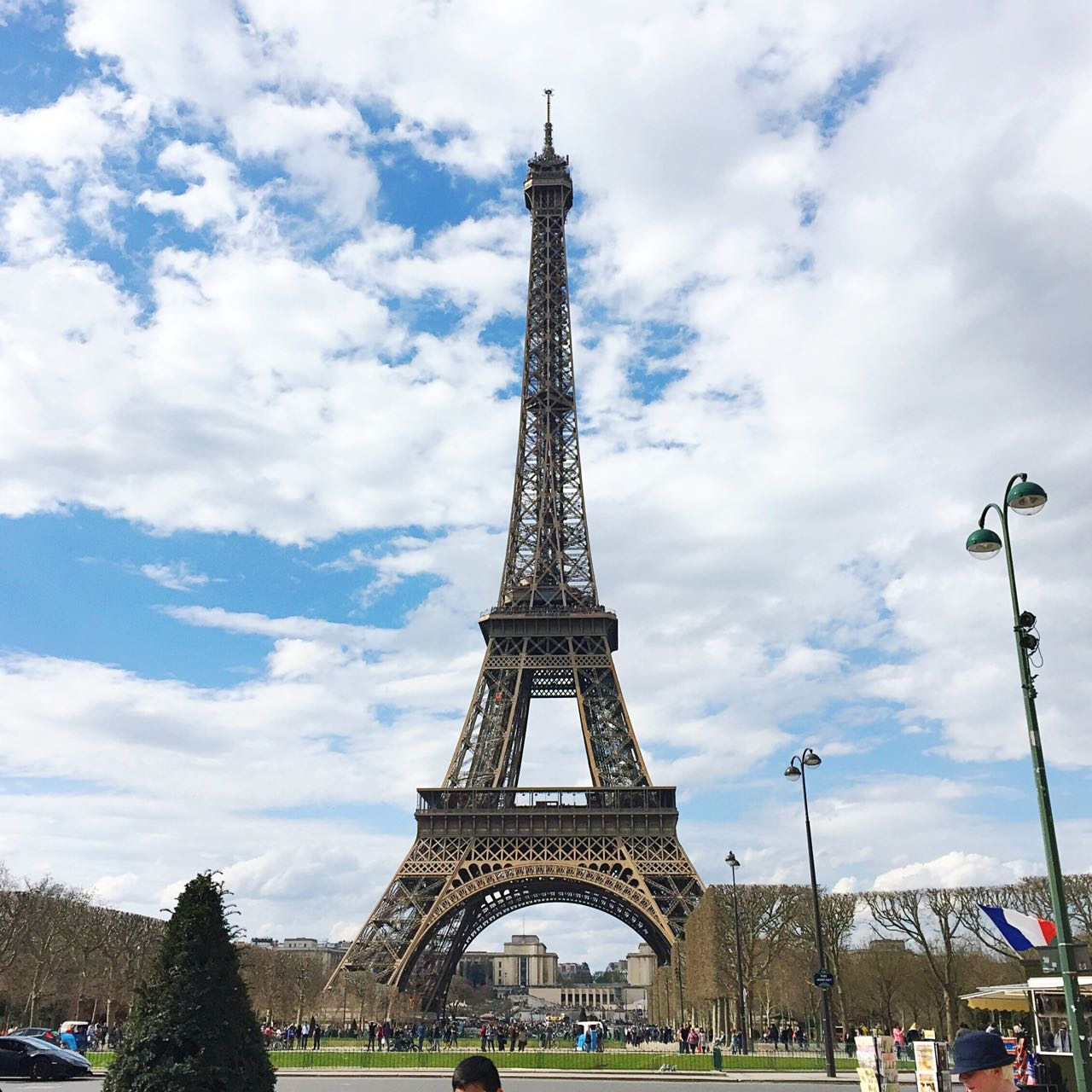 The Eiffel Tower (of course!) - sans scaffolding for the first time for me....