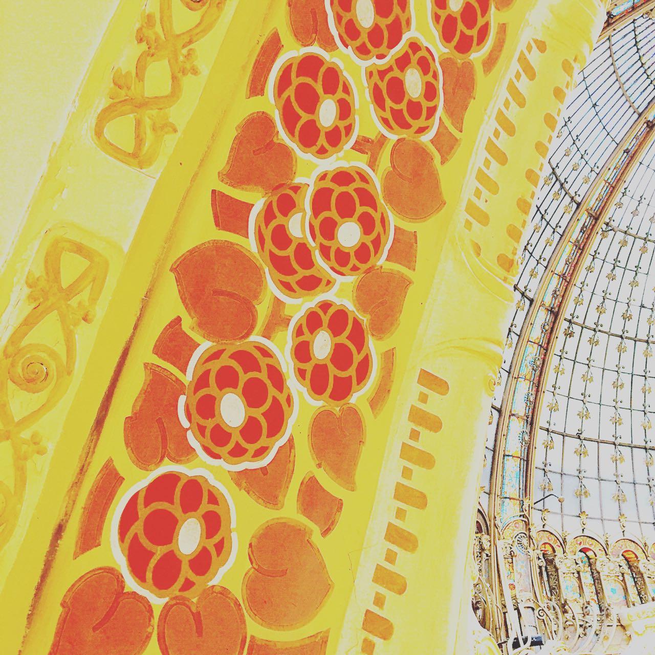 Pattern detail at Galleries Lafayette