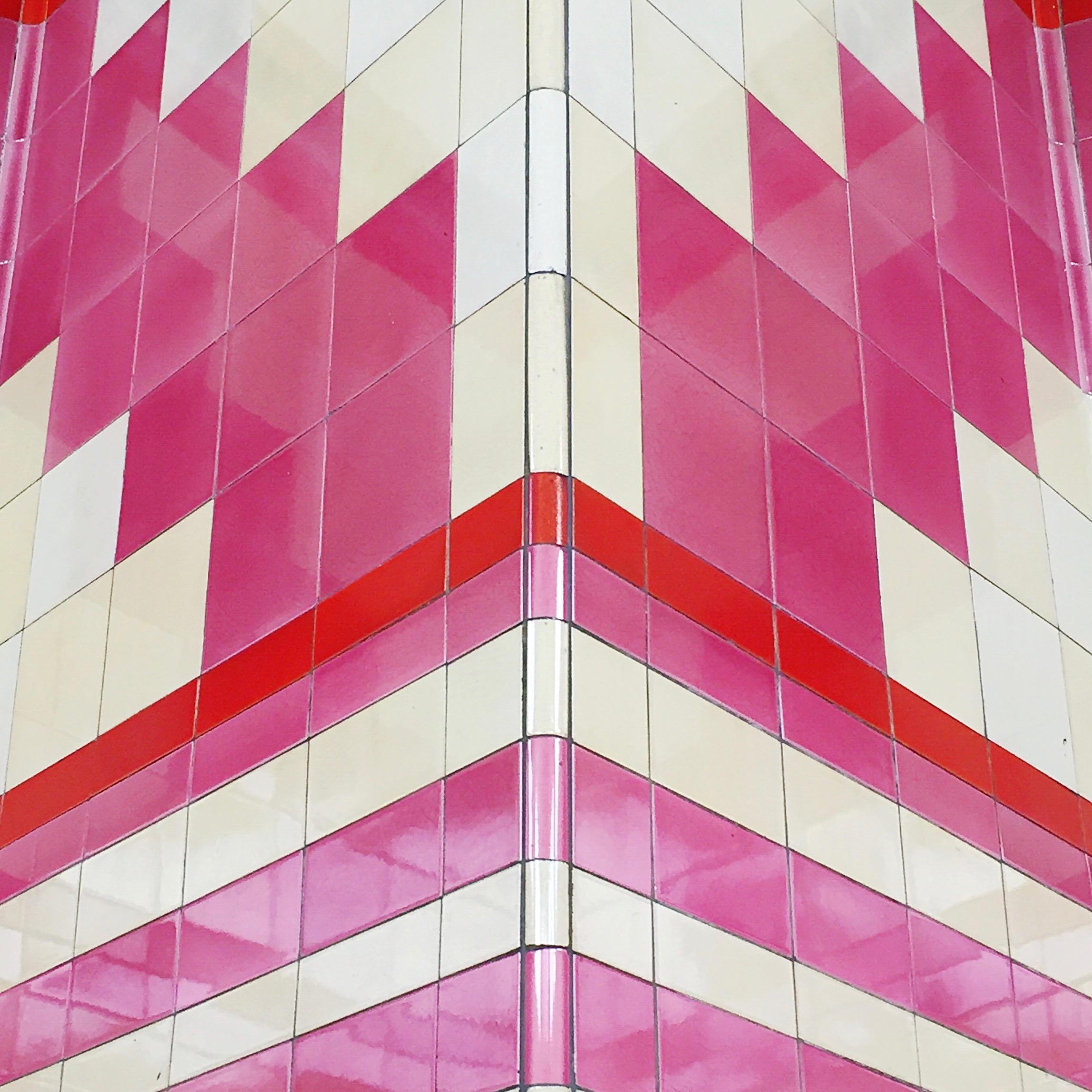 The amazingly pink Hounslow West.