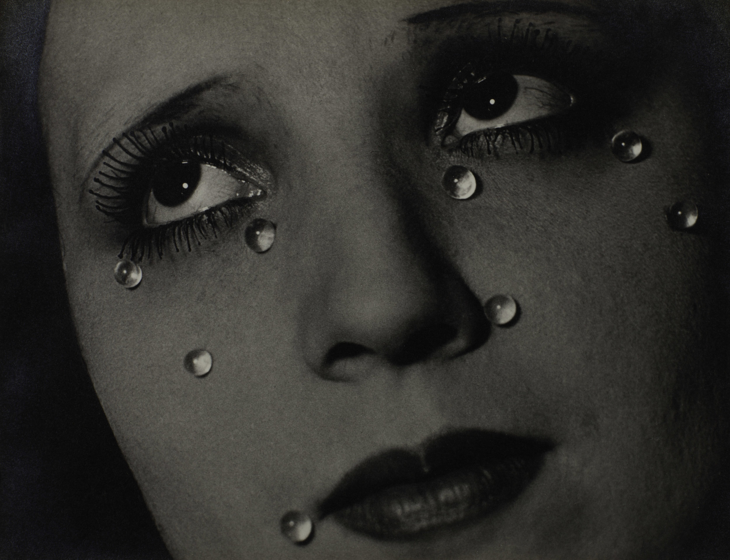 Man Ray 1890-1976    Glass Tears (Les Larmes)    1932Photograph, gelatin silver print on paper229 x 298 mmCollection Elton John© Man Ray Trust/ADAGP, Paris and DACS, London 2016