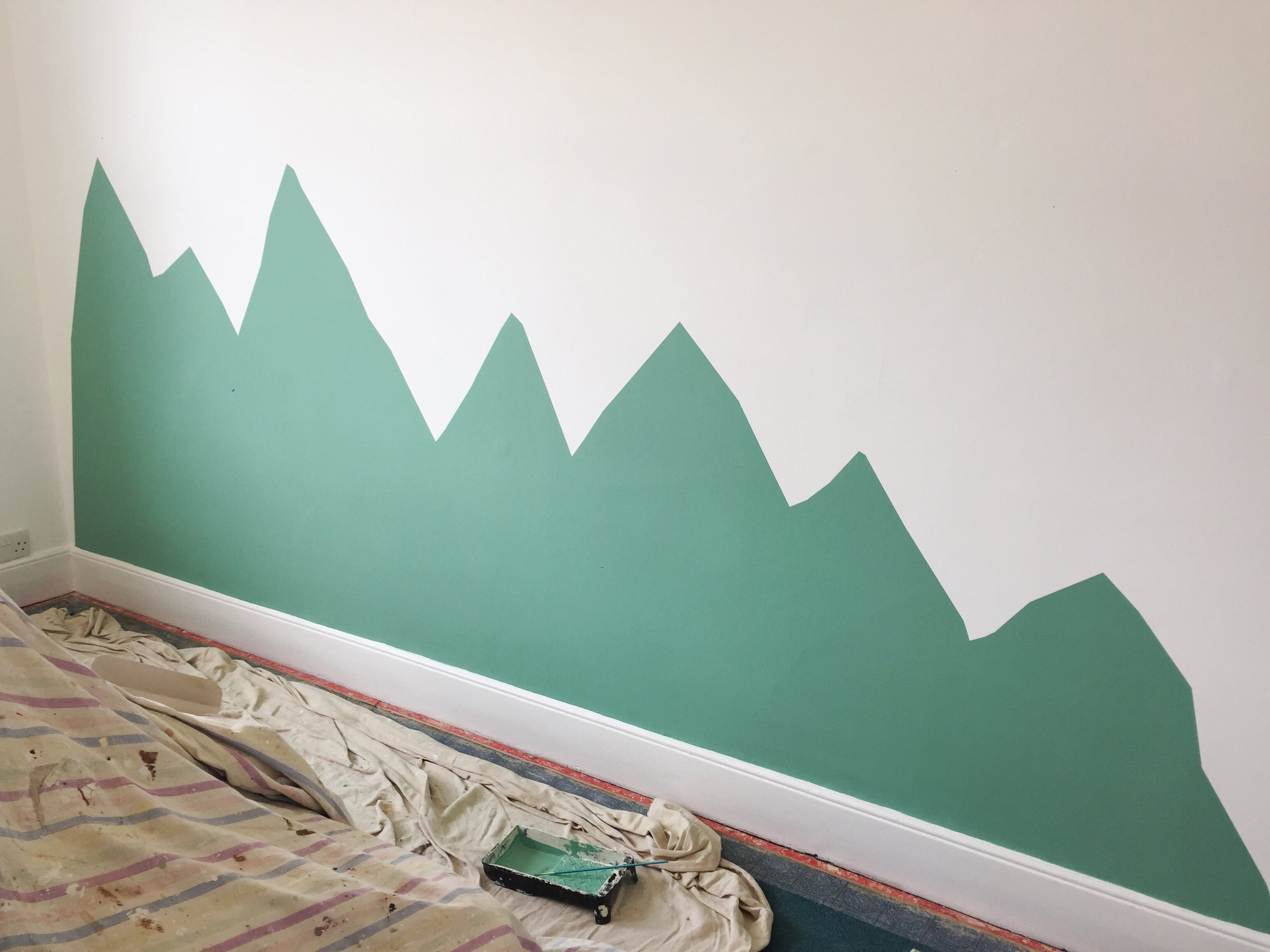 All paints are from  Farrow & Ball  - the green is  Arsenic , the white is  Great White