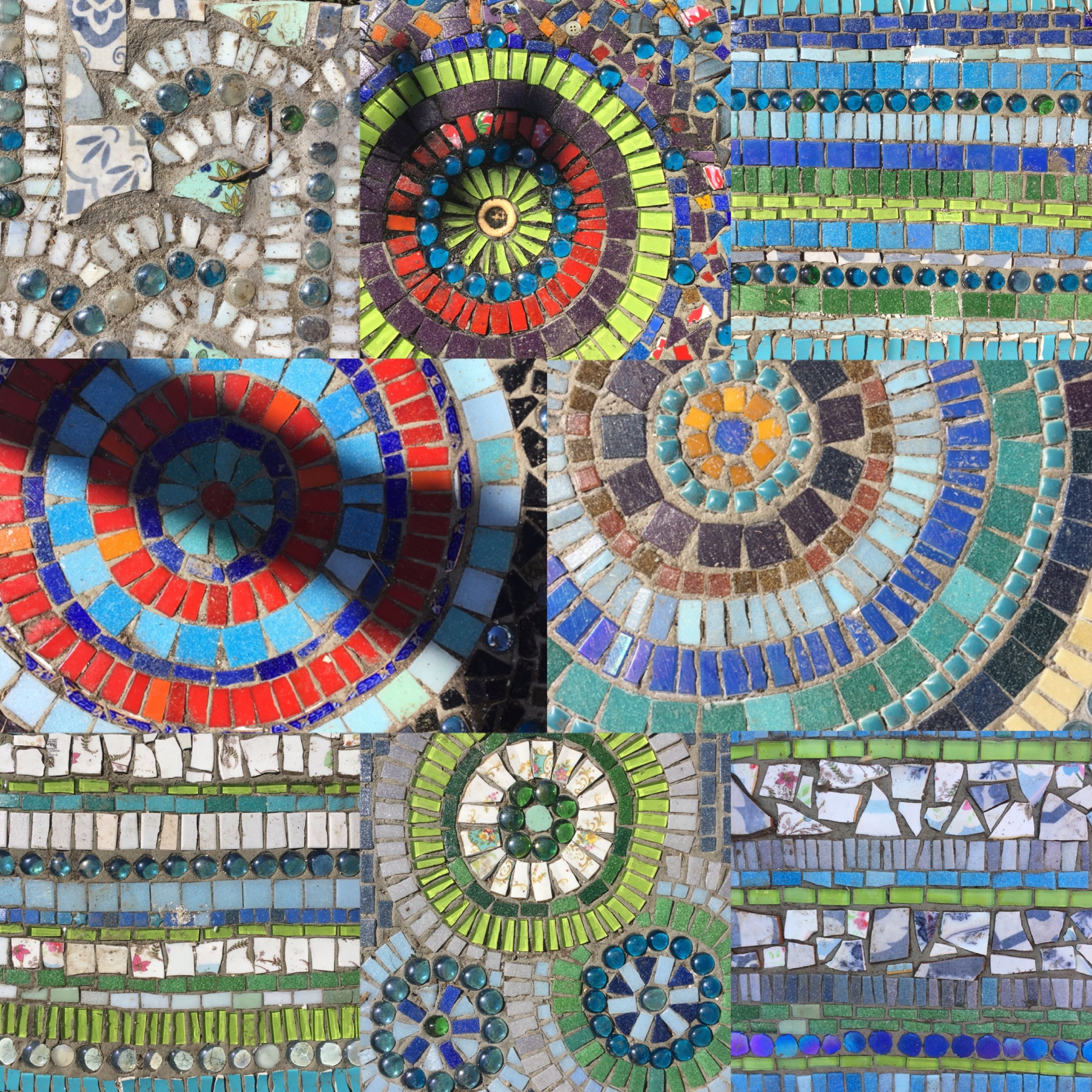 Claire's much admired mosaic paving slabs